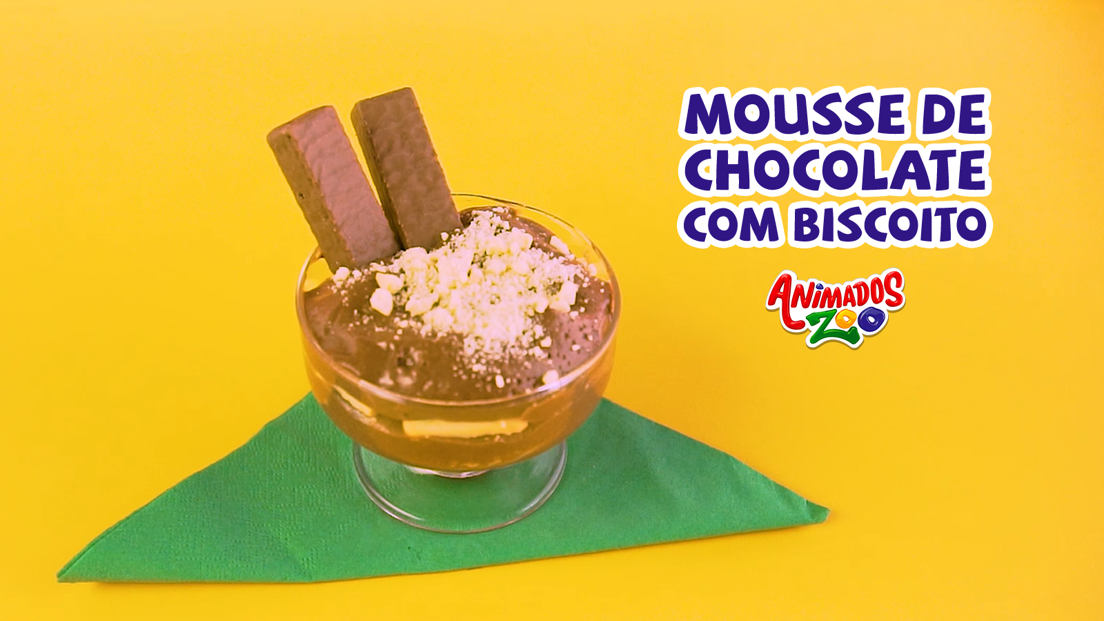 Mousse de Chocolate com Biscoito